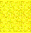 yellow abstract striped square tile mosaic vector image vector image