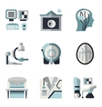 MRI blue and black flat icons vector image