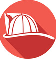 Firefighter Helmet Icon vector image