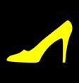women shoe yellow sign 911 vector image