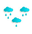 cartoon rain cloud icon symbol set isolated vector image