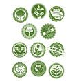 eco green natural bio organic product symbol set vector image