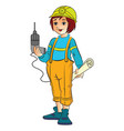 female construction worker vector image