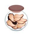 A Jar of Preserved Black Truffle Mushrooms vector image