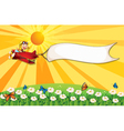 A monkey riding in a red plane vector image vector image