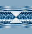 Abstract blue metal tech arrows background vector image