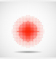 abstract halftone dotted circles colorful dots vector image vector image