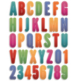alphabet stickers vector image