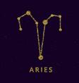 aries zodiac horoscope sign astrology simbol in vector image