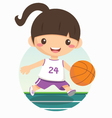 basketball girl vector image vector image