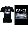 black t-shirt design with disco dance theme vector image vector image