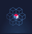 block chain icon or logo - 3d isometric vector image vector image