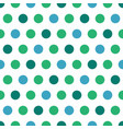 blue and green polka dots on white background vector image