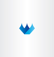 blue icon w letter w logo design vector image vector image