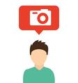 camera concept vector image