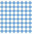checkered tile pattern or seamless blue and white vector image