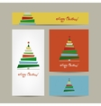 Christmas cards collection for your design vector image vector image
