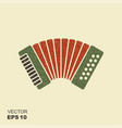 classical bayan accordion harmonic icon with vector image