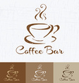 Coffee shop logo design template retro style vector image