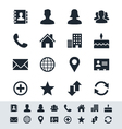 Contact icon set simplicity theme vector image vector image