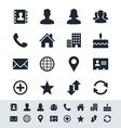 Contact icon set simplicity theme vector image