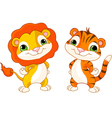 Cute animal characters vector image vector image