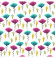 cute floral pattern with color hand drawn flowers vector image vector image
