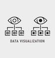 data visualization icon on white background vector image
