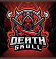 death skull gunner esport mascot logo vector image vector image