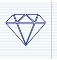 diamond sign navy line icon vector image vector image