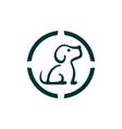 dog icon logo concept vector image vector image