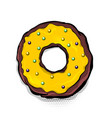 doughnut donut cartoon pop art vector image