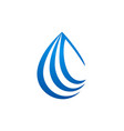 droplet water drop logo vector image