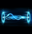 electrical discharge or plasma arc on futuristic vector image vector image