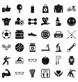 exercise icons set simple style vector image vector image