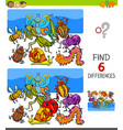 finding differences game with insects characters vector image vector image