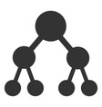 flat binary tree icon vector image vector image