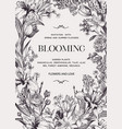 Floral wedding invitation with flowers