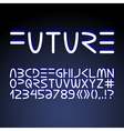 Futuristic minimalistic alphabet vector image vector image