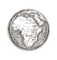 globe outline drawing africa continent