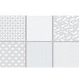grey geometric seamless pattern vector image
