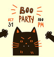 halloween party invitations or greeting cards vector image vector image