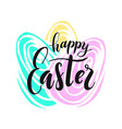 happy easter lettering for greeting vector image vector image
