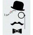 hipster in bowler hat vector image vector image