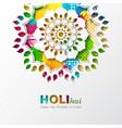 holi holiday design vector image vector image