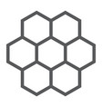 honeycomb line icon food and honey hexagon sign vector image