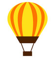 hot air balloon flat isolated vector image