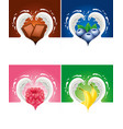 ilk splash created heart with raspberry blueberry vector image vector image