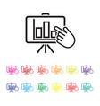 interactive report icon vector image vector image