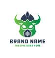 leaf-shaped spartan helmet logo vector image vector image